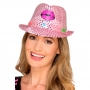 Sombrero Coyboy Rosa con Luces