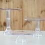 Set de 3 Stands Transparentes Altura Variable