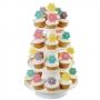 Stand blanco de 4 pisos para cupcakes Wilton
