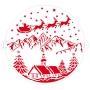 Stencil Paisaje de Navidad 25 cm