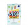 Tarjeta de Felicitación 40 Cumpleaños Modelo A