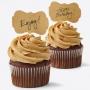 Toppers para Cupcakes en forma de Etiqueta