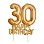 Topper para Tartas 30 Cumpleaños Oro