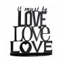 Topper para Tartas It must be Love