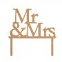 Topper para Tarta Mr & Mrs