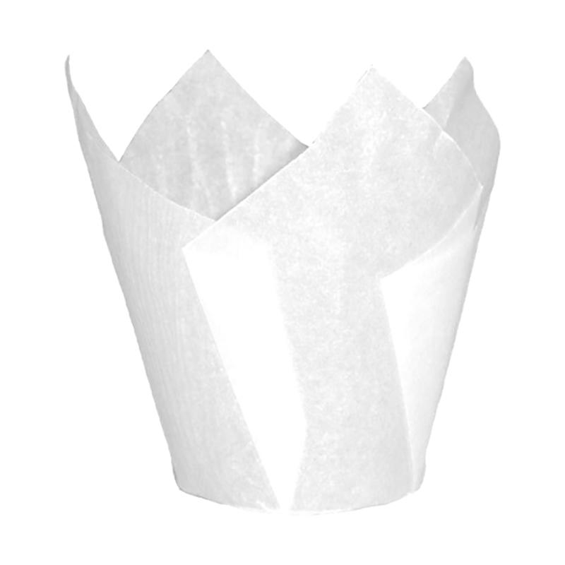 Tulipas para Muffins Blancas