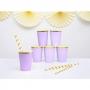 Set de 6 vasos de cartón lila claro de 220 ml