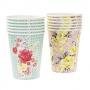 Juego de 12 vasos Vintage Floral