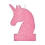 Vela con Purpurina Unicornio Mágico 12 cm