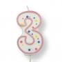 Vela de cumpleaños 3 rosa