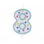 Vela de cumpleaños 8 Azul - My Karamelli