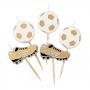 Set 5 Velas Fútbol Gold