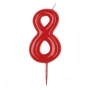 Vela Nº 8 Roja