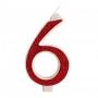 Vela Brillante Roja Nº 6