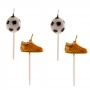 Velas Balón y Bota de Fútbol 6 Unidades