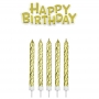 Velas Doradas Happy Birthday