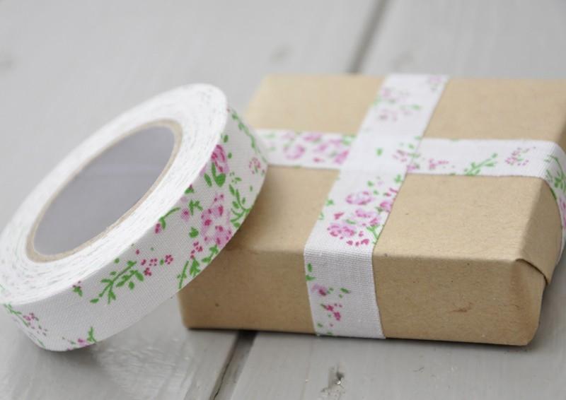 Cinta Adhesiva Pink floral fabric